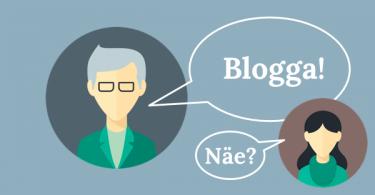 att företagsblogga