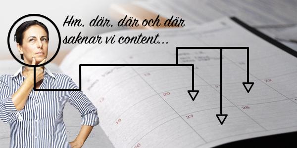 kalendern hjälper dig planera framåt