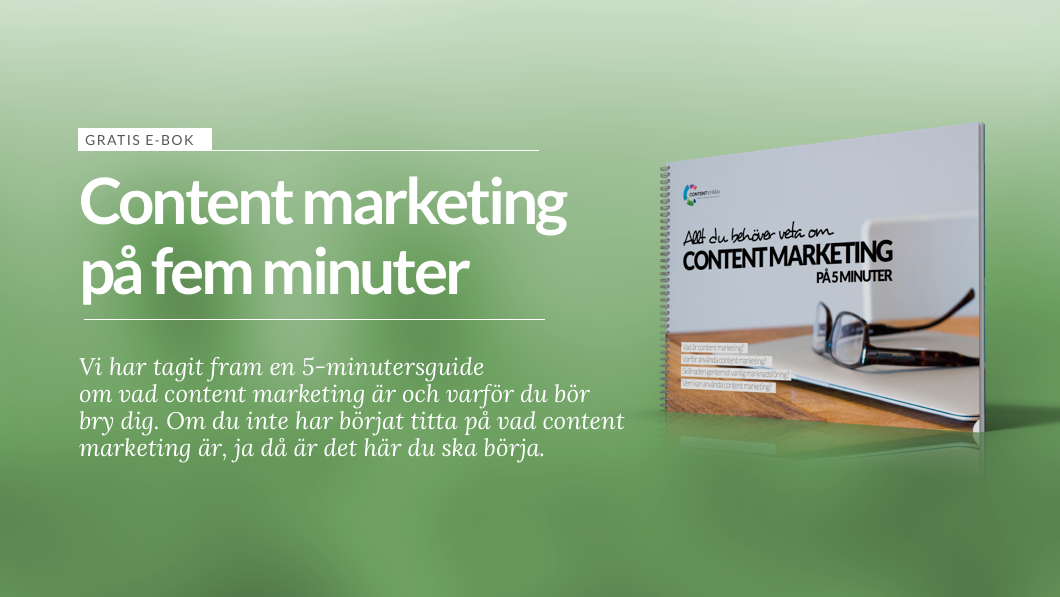 Contentbyrån e-bok om content marketing