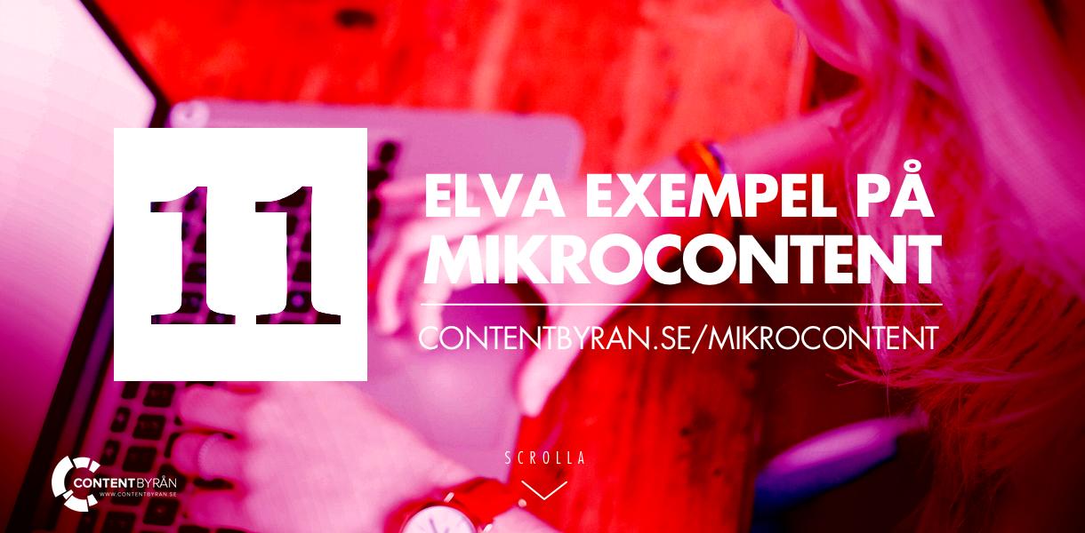 11 exempel på mikrocontent