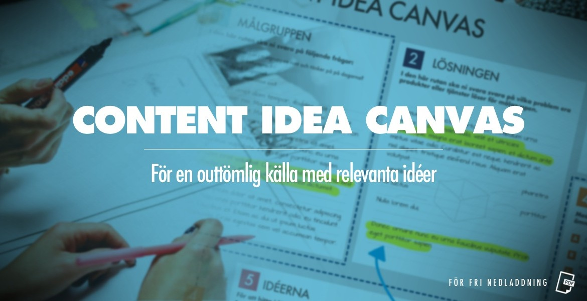 Content idea canvas