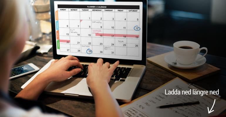 använd vår redaktionella kalender för 2017